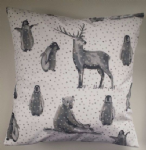 "16"" Cushion Cover in Winter Snow Animals"